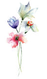 Stylized flowers Stock Images
