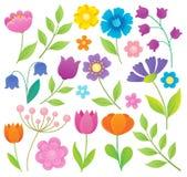 Stylized flowers topic set 1 Royalty Free Stock Photos
