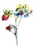 Stylized flowers Royalty Free Stock Photography