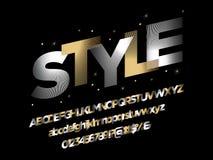 Stylized font vector illustration