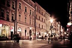 Stylized foto av stadens gammala gata Arkivfoto
