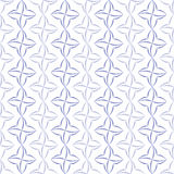 Stylized Four-Petal Flower Background. Pattern of violet stylized four-petal flowers set in verticall stripes on white background. Seamless repeat Royalty Free Stock Photography