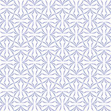 Stylized Four-Petal Flower Background. Trellis pattern of stylized four-petal flowers on white background. Seamless repeat Stock Photography