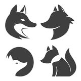 Stylized fox head icon vector Royalty Free Stock Images