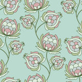 Stylized fruit. Seamless vintage floral pattern with stylized fruit or else flower. colorfull Royalty Free Stock Photography