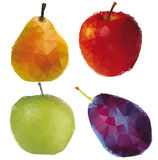 Stylized  fruit Royalty Free Stock Photos