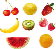 Stylized  fruit Royalty Free Stock Images