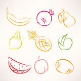 Stylized fruits Stock Image