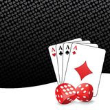 Stylized gambling background royalty free illustration