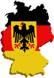 Stylized Germany flag Royalty Free Stock Images