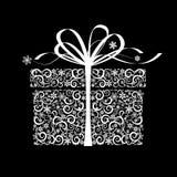 Stylized gift box - vector illustration Royalty Free Stock Image