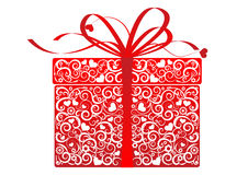 Stylized gift - vector Stock Image