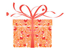 Stylized gift - vector. Stylized gift - 2d color Royalty Free Stock Photo