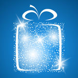 Stylized gift vector Royalty Free Stock Photos