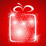 Stylized gift vector Stock Images