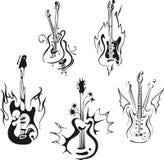 Stylized gitarrer Arkivfoton