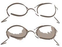 Stylized glasses isolated Stock Images