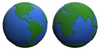 Stylized globe. Royalty Free Stock Images