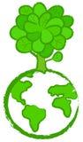 Stylized globe-tree Royalty Free Stock Images