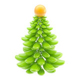 Stylized glossy christmas tree isolated Stock Image