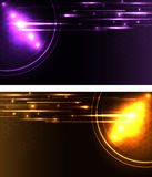Stylized glowing backgrounds Royalty Free Stock Images