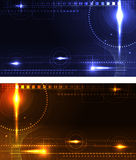 Stylized glowing backgrounds Royalty Free Stock Photos