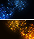 Stylized glowing backgrounds Stock Images