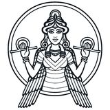 The stylized goddess Ishtar. Royalty Free Stock Photo