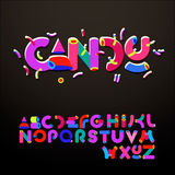Stylized godis-något liknande alfabet Arkivbild