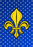 Stylized Golden Fleur de Lis Stock Images
