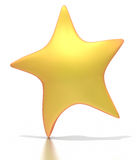 Stylized golden star on white background. A stylized golden star reaches up.  Isolated on a white background with a clipping path Royalty Free Stock Photo