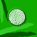 Stylized golf ball Royalty Free Stock Photos