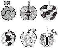 Stylized graphics apples Stock Photo