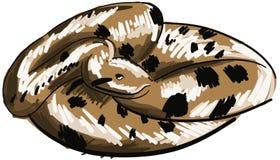 Stylized green anaconda isolated Royalty Free Stock Image