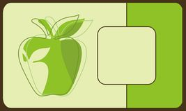 Stylized green apple Stock Images