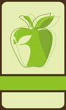 Stylized green apple Royalty Free Stock Photography