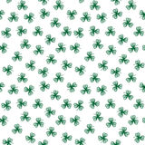 Stylized green clover contour leaves Stock Photography