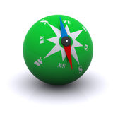 Stylized green compass ball Stock Photography
