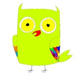 Stylized green owl Royalty Free Stock Photos