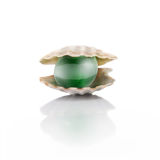 Stylized green pearl Stock Photo