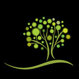 Stylized green tree Royalty Free Stock Image