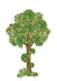 Stylized green tree isolated over white Royalty Free Stock Photo
