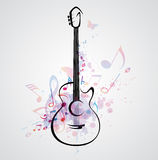 Stylized guitar Stock Image