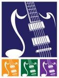 Stylized guitar Stock Photo