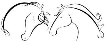Stylized hästhuvud royaltyfri illustrationer