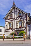 Stylized half-timbered house in Etretat Royalty Free Stock Image