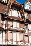 Stylized half-timbered house. Etretat is a commune in the Seine Royalty Free Stock Photography