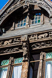 Stylized half-timbered house. Etretat is a commune in the Seine Royalty Free Stock Photos