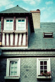 Stylized half-timbered house. Etretat is a commune in the Seine Stock Photo