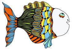 Stylized Hand Drawn Fish. Vector illustration image Stock Photo